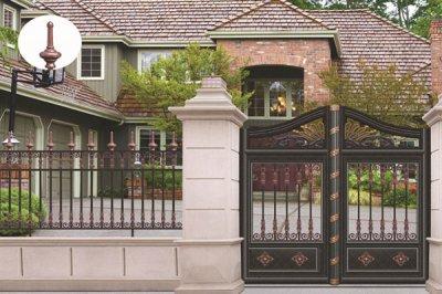 保养别墅铝艺大门的三个妙招