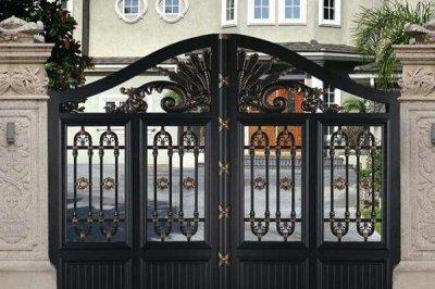 别墅铝艺大门的两大优势,安装原则是什么?